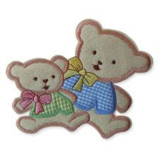 MUMMY & BABY MOTIF IRON ON EMBROIDERED PATCH APPLIQUE